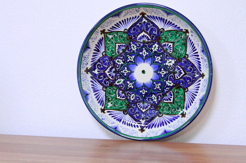 Handmade ceramic plate means eight-pointed stars or 8 doors of image 0