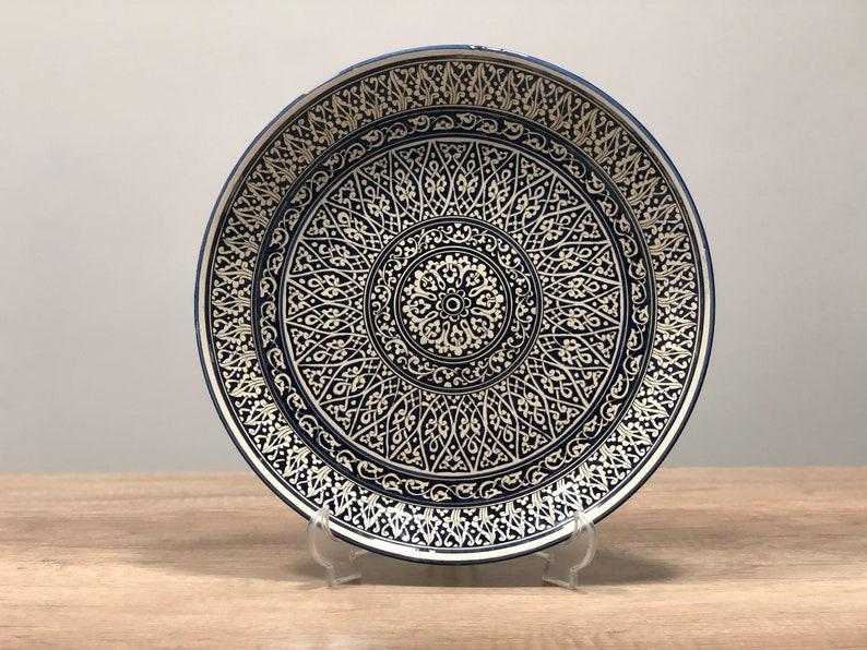 Large Serving Dish Ceramic Platter Large Pottery Plate image 0