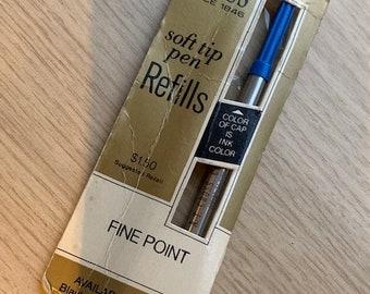 Cross soft tip pen refill vintage blue ballpoint