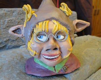 Incense korrigan Pixie door whimsical paper mache