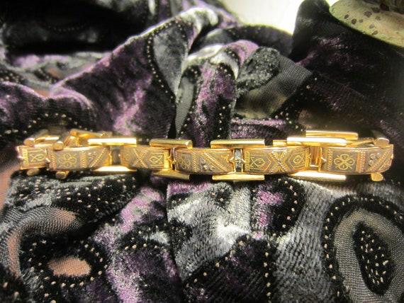 Mid Century Spanish Damascene Bracelet