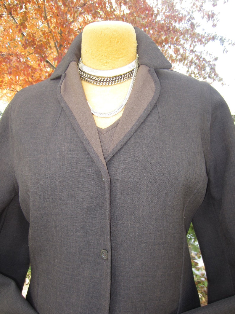 Vintage Designer HALSTON Late 70/'s Early 80/'s Chocolate Brown Three Piece PantsuitMint Condition PolyWool BlendSize 1012