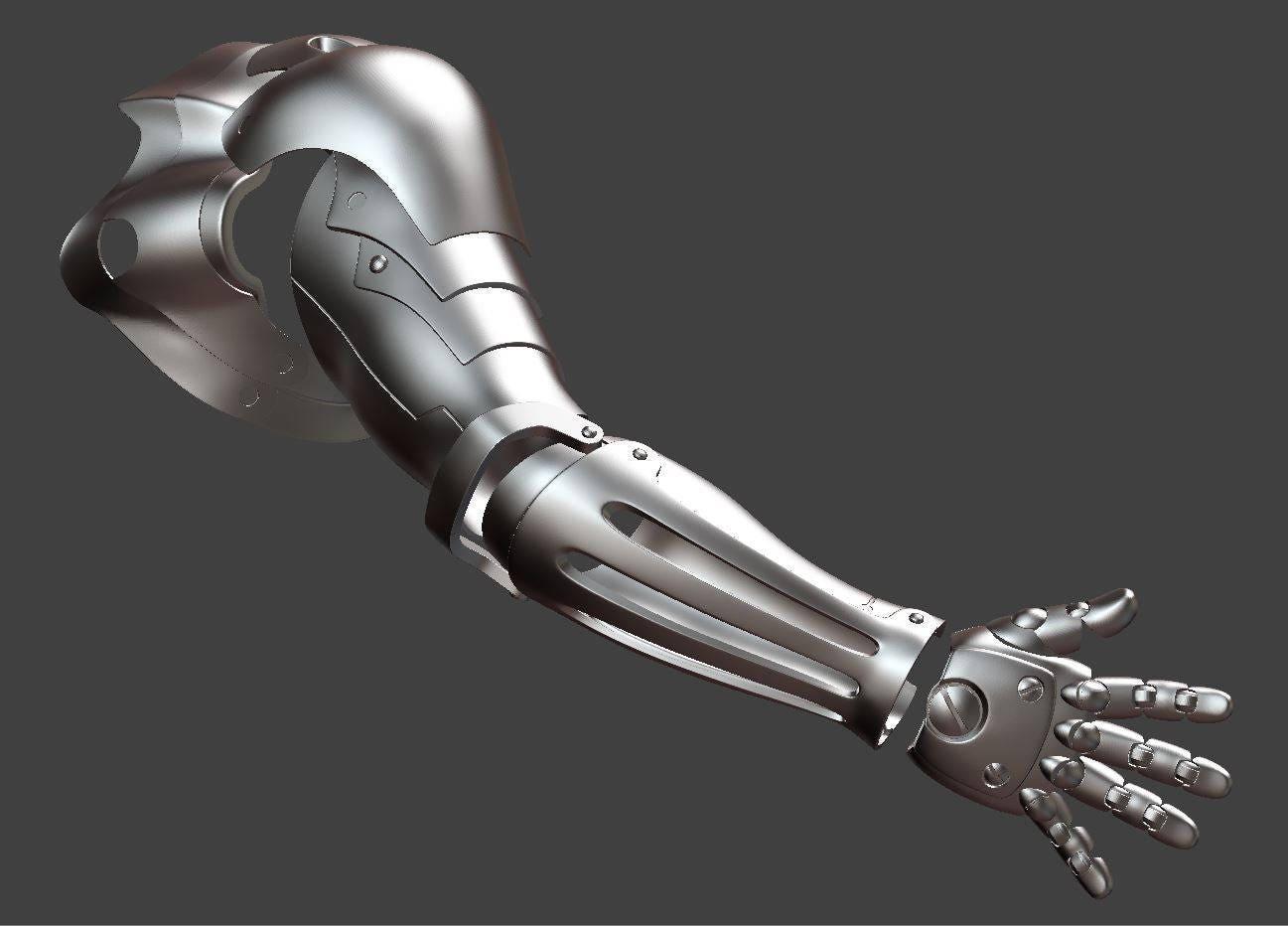 Edward Elric automail arm Fullmetal alchemist cosplay 3D ...