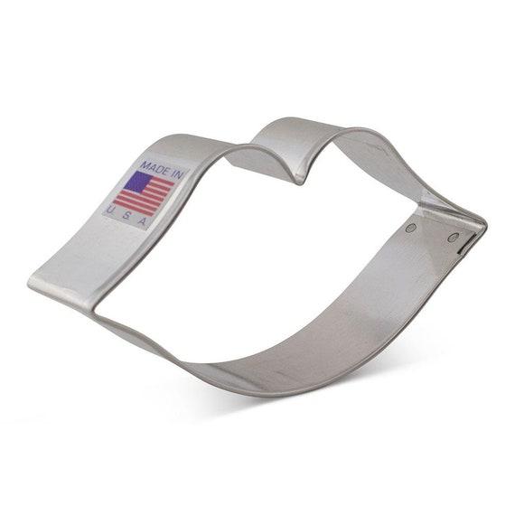 "Ann Clark 3 x 4 5//8 /"" Double Heart Cookie Cutter  Tin Plated Steel USA"