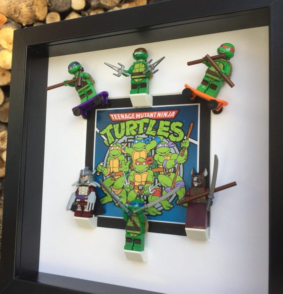 Teenage Mutant Ninja Turtles 3d Figure Frame Etsy
