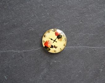 Cabochon 25 mm glass flower clock