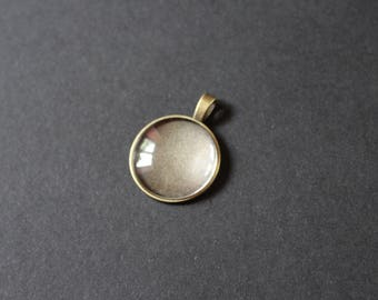Kit supports 25 mm glass cabochon bronze