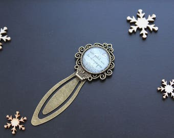 """Bronze bookmark """"A little bit of country"""" linen"""