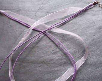 Purple colored Nylon Organza necklace