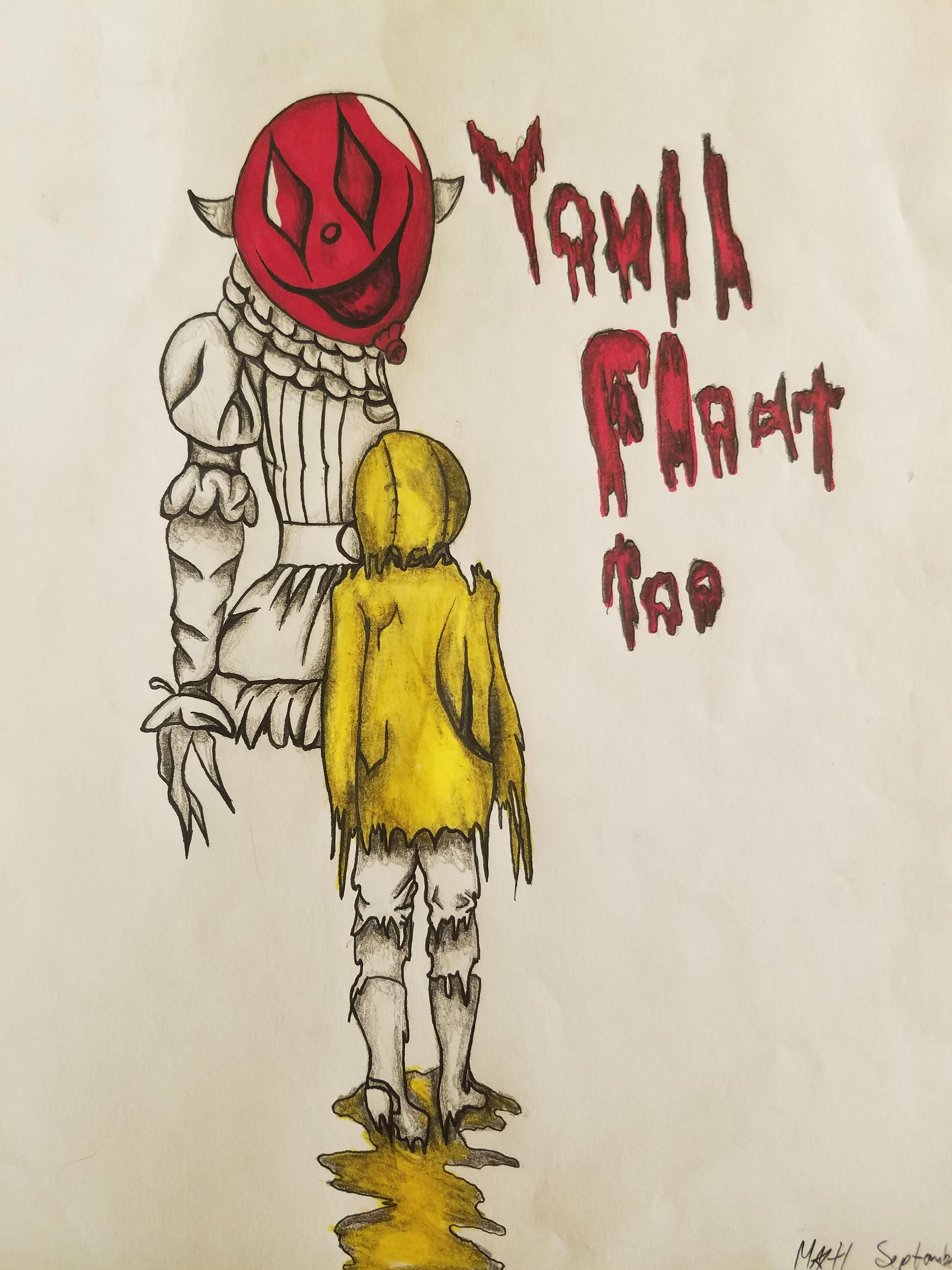it georgie you ll float too drawing etsy