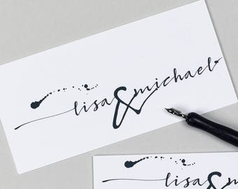 Ink Black & White Invitation