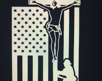 lineman cross flag