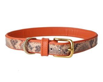 Millenium Grigio Leather Dog Collar