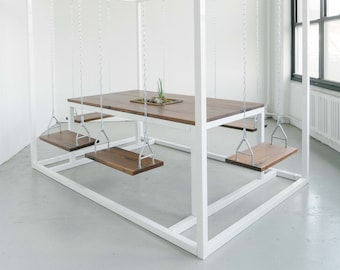 6-Seater SwingTable with Walnut wood