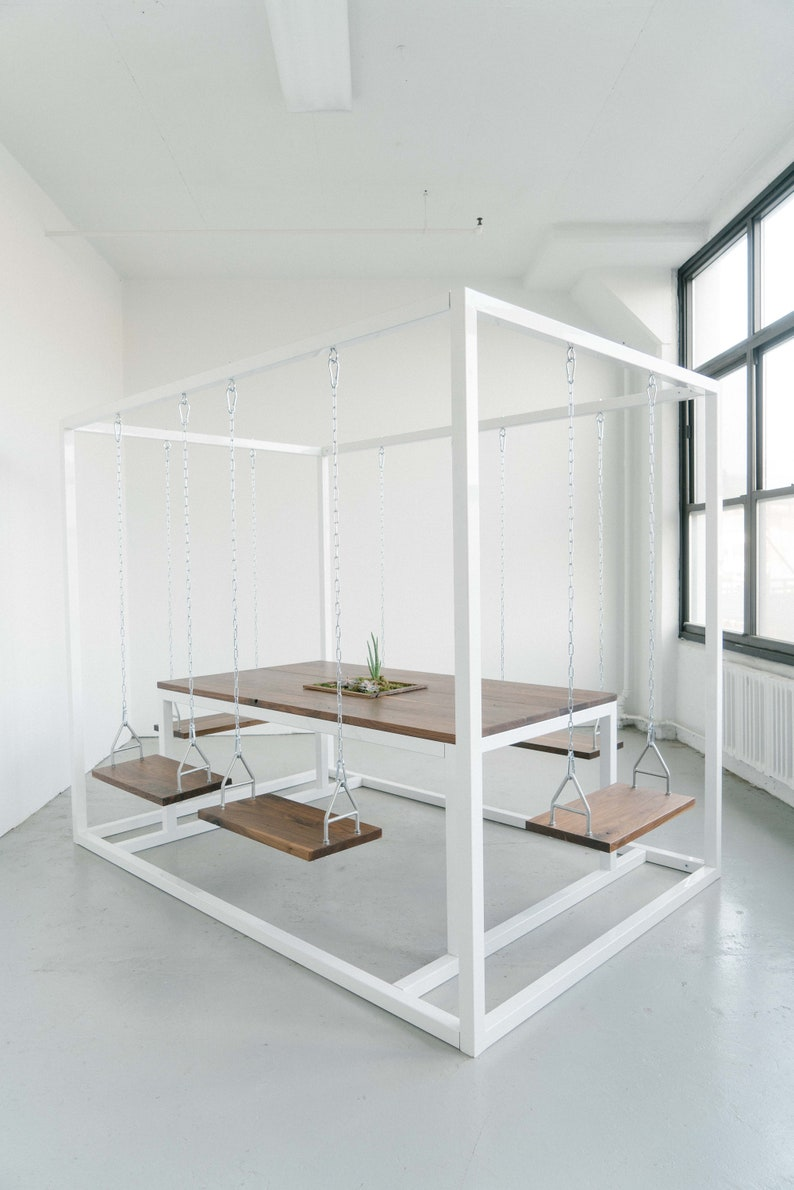 6-Seater SwingTable with Walnut wood image 0