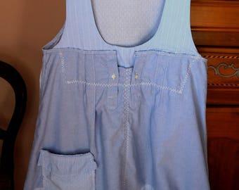 Dress shirt blue all cotton, the fleet