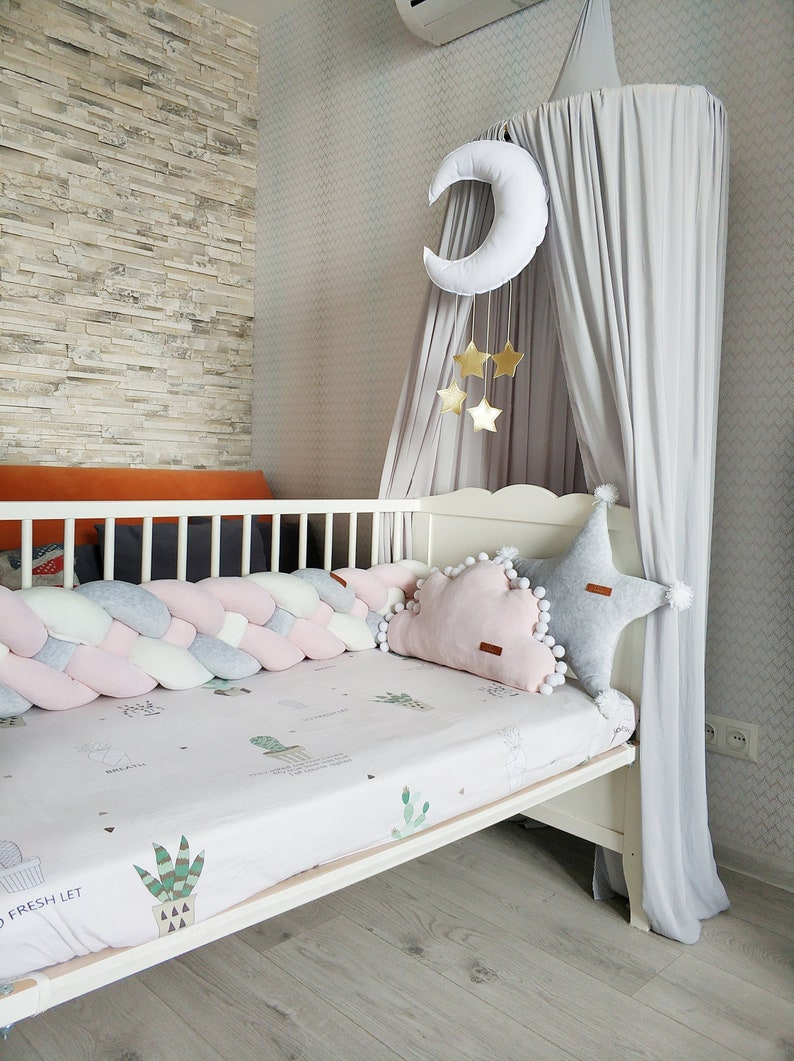 Nursery ALL ROUND COT BUMPER only to fit Cot or Cot Bed 420 or 360cm