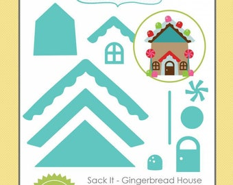 Set 11 Dies Taylored Expressions gingerbread house metal cutting dies