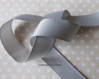 Lot 10 m Ribbon coarse gray steel 16mm