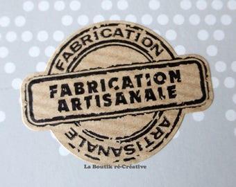 Lot 25 handmade Kraft adhesive tags...
