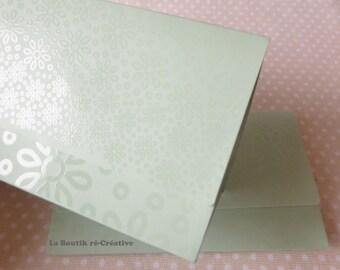 1 x pouch green 15x9cm flowers jewelry gift box