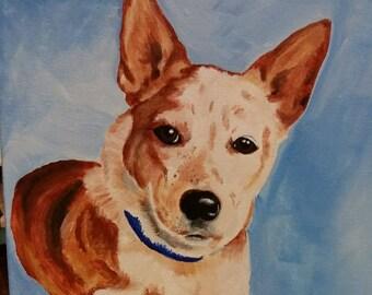 Custom dog portrait - 20 x 24 inches
