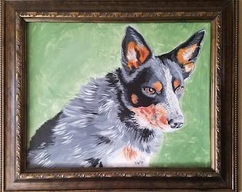 Custom dog portrait - 16 x 20 inches