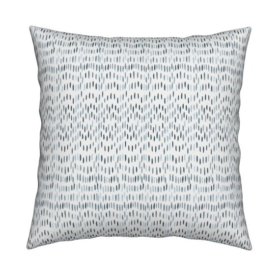 Decorative watercolor Pillow cover blue