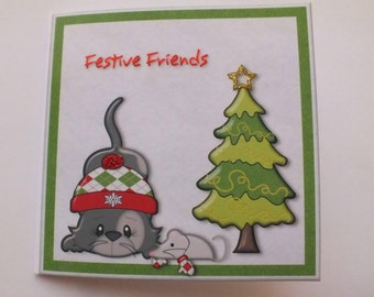 Cat and Mouse Christmas buddies