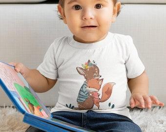 Infant Fine Jersey Tee  - Fox And Deer