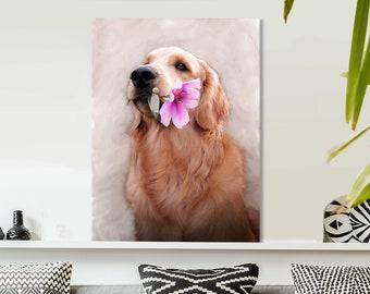 Pet Portrait in Canada, Digital Pet Portrait, Pet Portrait From Photo, Pet Portrait Custom, Pet Portrait Traditional Oil Paint Style