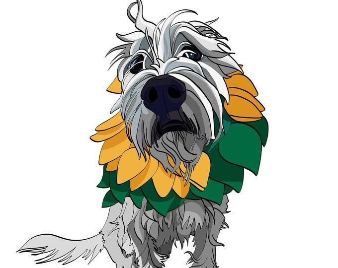 Pet Portrait / Cartoon Pet Portrait / personalized gifts / Pet Portrait From Photo