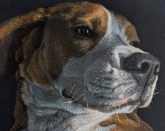 Pet Portrait hand painted in Acrylic from Photo, Pet Portrait Custom, personalized gifts