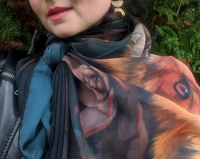 Fox In The Forest Scarf for Autumn