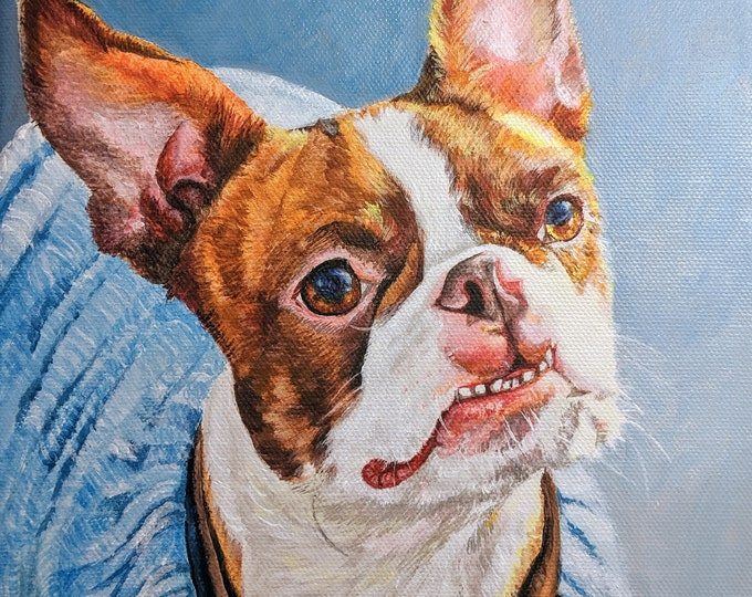 Pet Portrait hand painted in Oil  from Photo, Pet Portrait Custom, personalized gifts