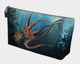Octopus In the Coral Make-up bag