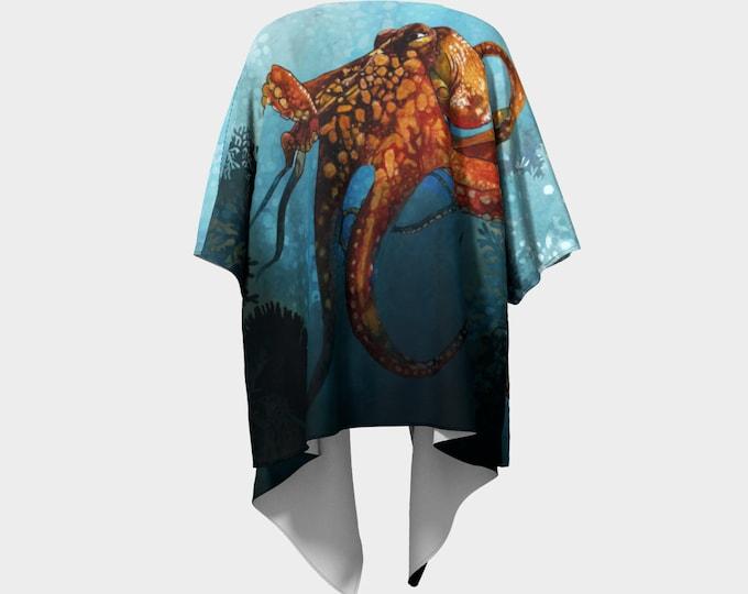 Octopus In the Coral Kimono