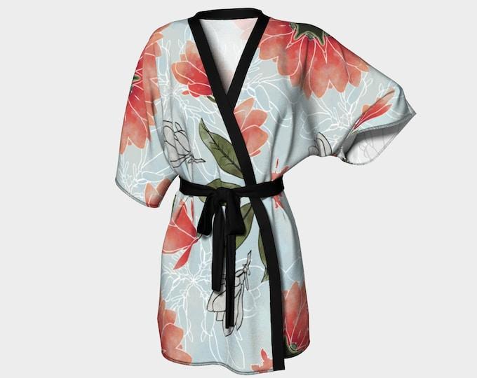 Magnolia In Spring Kimono, Made In Canada, Vancouver Spring