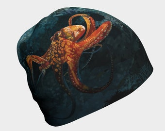 Octopus In The Coral Beanie