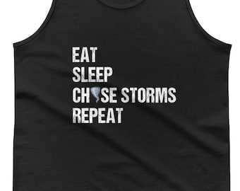 Funny Storm Chaser Gift Twister Sweater - Tornado Chaser Weather Shirt - Super Cell Meteorology Tornado Alley Tank Top