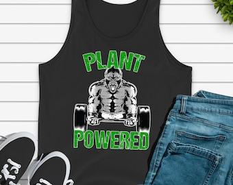 9651c3bf Vegan Gym Tank Top Vegan Fitness Shirt Vegan Workout Tank Top Plant Powered  Tank Vegan Lifestyle Vegan Gym Gift