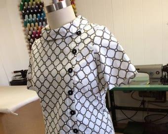plus size cotton vintage 60's remake dress