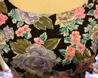 cotton floral plus size vintage 60's remake