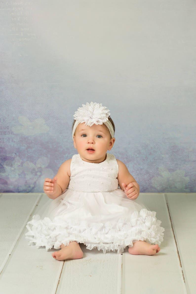 d06078320b Suknia chrztu chrzciny sukienka suknia dziewczyna kwiat na