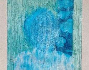 """Postkarte_Kunstdruck_""""Portrait No. 1"""""""
