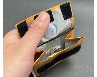 Design PORTEMONNAIE - 250g - with RFID protection from used coffee packaging/ recycled material / party wallet - gold/black