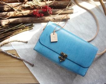 Myrrh leather | Handmade Long Box | Crossbody bag | Handbag | Handmade