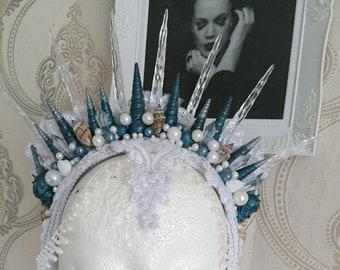 Mermaid Crown Christal (blue)