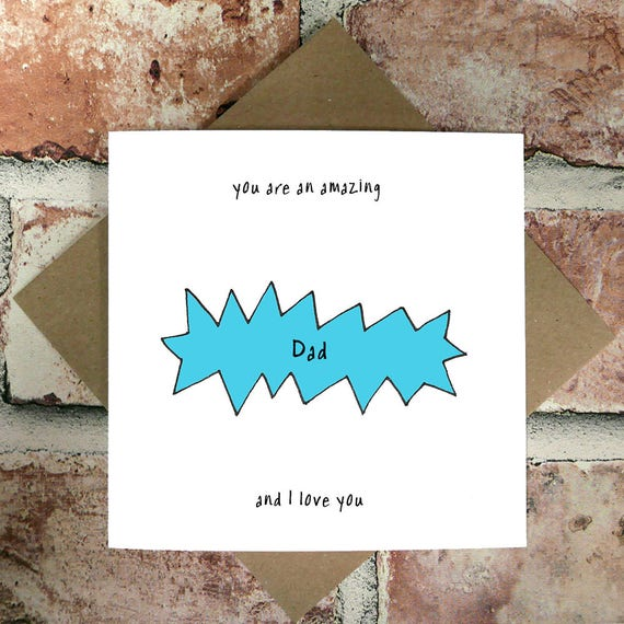 Amazing Dad And I Love You Card Birthday Cards Funny