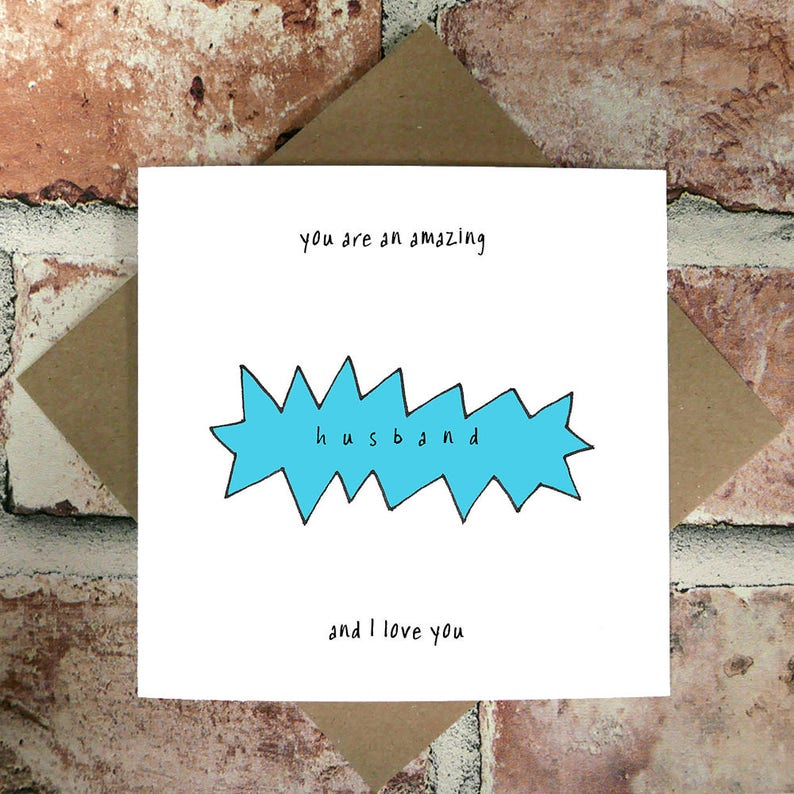 Amazing Husband And I Love You Birthday Cards Funny